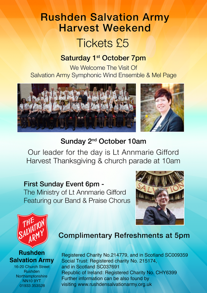 Rushden Harvest Weekend October 2016